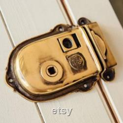 Solid Brass Victorian Cromwell Privacy Rim Latch