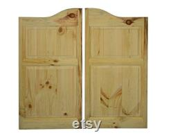 Solid Pine Western Cafe Doors Saloon Doors with Arched Top