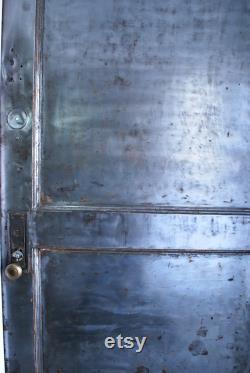 Two Panel Steel Fire Door Industrial Security Door