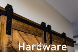 Upward Chevron V Barn Door, Double Sided, Solid Wood (Shipping Included)