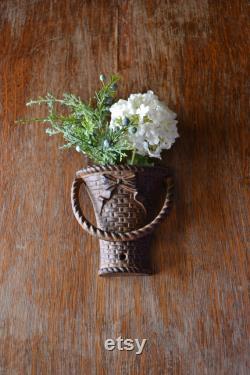Vintage Basket Door Knocker Cast Iron Basket Door Knocker Flower Basket Door Furniture French Country Farmhouse Decor