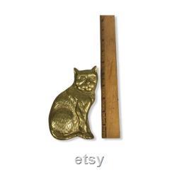 Vintage Large Brass Cat Door Knocker