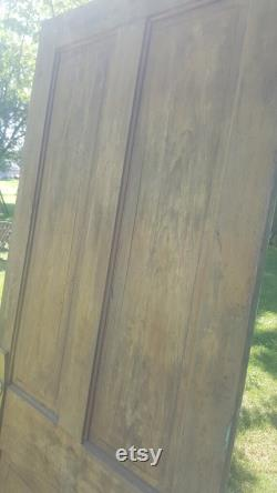 Vintage Recessed 4 Panel Wood Door, Building Supply, Architectural Salvage, Renovation, Replacement, 34 x 81 AK36