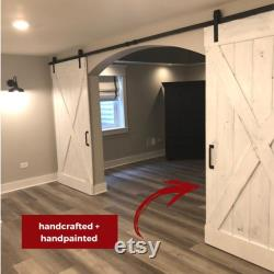 White Wash Barn Doors customize your details