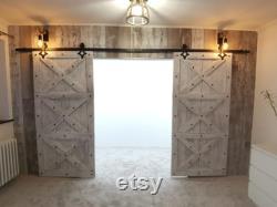 Wing door, Barn Door, wooden door, sliding door, hanging door, stable door, incl. rolls and rail