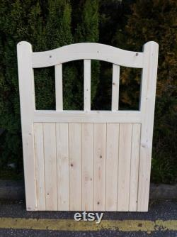 Wooden Arched top Cottage Style Timber Garden Curved Top Gate