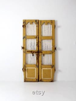 antique painted wood and iron doors, decorative entry door gates