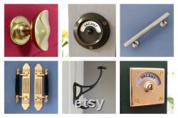 chrome lock bolt vintage style vacant engaged indicator bathroom toilet door occupied washroom restroom lavatory fitting room changing