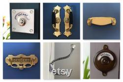 vacant engaged lock antique brass finish toilet bathroom indicator bolt lock cubicle occupied washroom restroom lavatory room changing decor