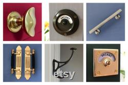 vacant engaged lock toilet bathroom antique brass indicator bolt lock vintage occupied washroom restroom lavatory fitting room changing