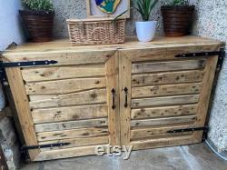 wooden cabinet handmade doors with a barn look twist